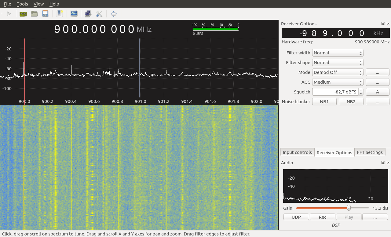 Extremely weak reception of strong signals, defective LimeSDR